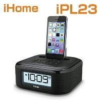 iHome iPL23 Stereo FM Clock Radio with Lightning Dock Charge /スピーカーPlay for iPhone 5/5S 6/6Plus 6S...