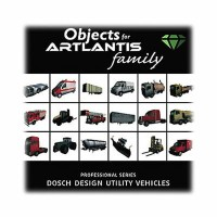 DOSCH DESIGN DOSCH 3D: Utility Vehicles for Artlantis D3D-UV-ART