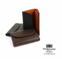 """【POINT20倍】Whitehouse Cox(ホワイトハウスコックス)ホースハイド 三つ折り長財布 """"3 FOLD PURSE(DERBY COLLECTION)""""・S7660-D..."""