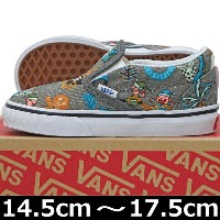 VANS ( バンズ ) Kids Classic Slip-On ( Van Doren ) Holiday/Pewter (14.5-17.5cm) ( ばんず ヴァンズ スケートボード...