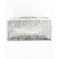PATRICK STEPHAN(パトリックステファン) Leather long wallet fold 'all-studs' 長財布【156AWA28】SILVER×SILVER(01S...