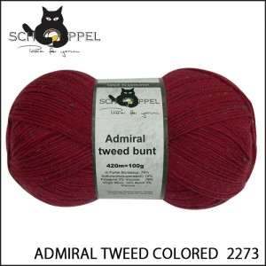 SCHOPPEL 靴下用毛糸 ADMIRAL TWEED COLORED 2273