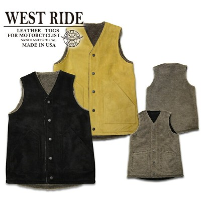 【WESTRIDE ウエストライド】ベスト/15FW RV ARMY LEATHER VEST !REAL DEAL