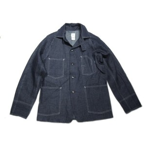 【期間限定30%OFF!】 POST OVERALLS(ポストオーバーオールズ)/#1102XX LIGHT DENIM ENGINEER'S JACKET/indigo