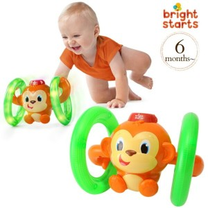 ブライトスターツ ロール&グローモンキー bright starts Roll&Glow Monkey 52181 bright starts spin&giggle puppy