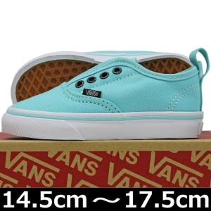 VANS ( バンズ ) Kids Authentic V ( Glitter Eyelets ) Aqua Sky/True White (14.5-17.5cm) ( ばんず ヴァンズ...