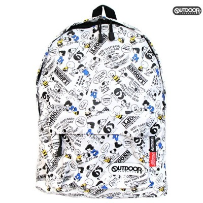 OUTDOOR×スヌーピー SNOOPY  デイパック リュックサック  白 65周年記念柄 sy704wh-6 [jitsu170630a]