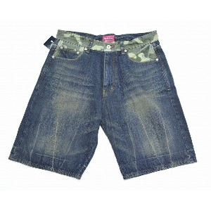 【新品】FLIP THE SCRIPT(フリップザスクリプト) MILITARY DENIM SHORTS PANTS WASH INDIGO L ミリタリーデニムショートパンツ