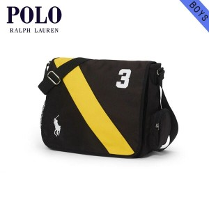 【15%OFFセール 5/25 10:00~5/30 23:59】 ポロ ラルフローレン キッズ POLO RALPH LAUREN CHILDREN 正規品 子供服 バッグ BANNER-STRIPED MESSENGER BAG 69358766(H10xL12x D4inch)