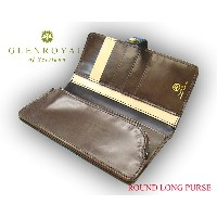 グレンロイヤル / GLENROYAL ■ROUND LONG PURSE 03-6178 ●029 ( NEW BLACK×CIGAR×NATURAL ) [ 完全限定入荷商品 ]...