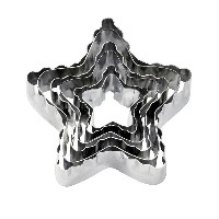 【Wilton】ウィルトン カットアウト 6個セット スター6-Piece Nesting Fondant Double Sided Cut Out Cutters, Star 417-2584...