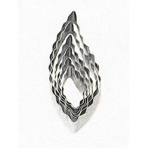 【Wilton】ウィルトン カットアウト 6個セット リーフ6-Piece Nesting Fondant Double Sided Cut Out Cutters, Leaf 417-2585...
