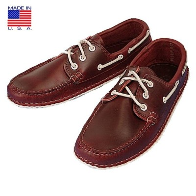 QUODDY クオディ 606003 Boat Moccasin ボートモカシン Horween Cavalier Red アメリカ製