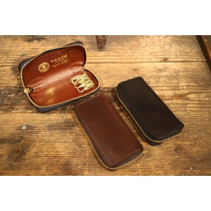 VASCO / LEATHER VOYAGE ROUND ZIP KEY CASE キーケース