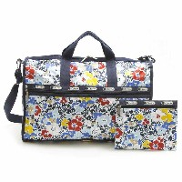 【29%OFF】LeSportsac 7185-D834 ボストンバッグ/旅行/宿泊/合宿 Large Weekender(ラージウィークエンダー)Ocean Blooms Navy...