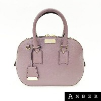 Burberry バーバリーSmall Orchard Bowling Bagクラシックトートハンドバッグ3921655Dusky Mauve 【送料無料】 【中古】