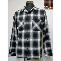FUCT(ファクト) FUCT SSDD OMBRE CHECK SHIRT 6307開襟長袖シャツ【送料無料】