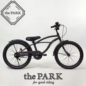 【 the PARK - ザ・パーク 】 20インチ ビーチクルーザー キッズ 子供 自転車バスケット&鍵ロック付き!