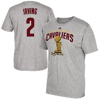 2016 NBAファイナル チャンピオン キャバリアーズ カイリー・アービング Tシャツ adidas Kyrie Irving Cleveland Cavaliers Gray 2016 NBA...