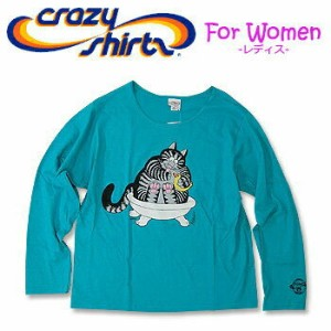 Crazy Shirts(クレイジーシャツ)-Womens- L/S Scoop Neck Tee @Kliban Cats[2006888] RUBBER DUKKIE CAT クリバンキャット...