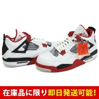 ジョーダン JORDAN AIR 4 ナイキ Nike White Varsity Red-Black
