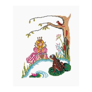 Thea Gouverneur クロスステッチ刺繍キットNo.892 「The Frog Princess」(童話) テア・グーヴェルヌール 【取り寄せ/納期40~80日程度】