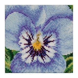 Thea Gouverneur クロスステッチ刺繍キットNo.464 「Pansy」(パンジー 花) オランダ テア・グーヴェルヌール 【取り寄せ/納期40~80日程度】