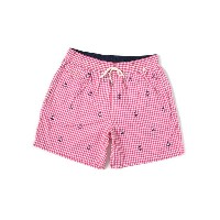 "【SALE】POLO RALPH LAUREN 5 3/4"" TRAVELER PREPPY GINGHAM TRUNK【710587949003-PINK】"