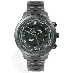【Timex タイメックス World Time ワールドタイム Charcoal Dial Men's watch #T2N614】