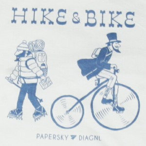 PAPER SKY x DIAGNL x Jerry UKAI コラボT / HIKE & BIKE designed by Jerry UKAI and PAPER SKY / {ジェーリー鵜飼}...