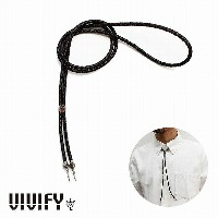 【VIVIFY 正規店】VIVIFY ビビファイ ネックレス レザー チョーカーOld Native Style Stone Setting Loop Tie/ガーネット 受注生産