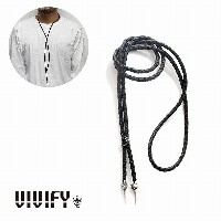 【VIVIFY 正規店】VIVIFY ビビファイ ネックレス レザー チョーカーOld Native Style Stone Setting Loop Tie/オニキス 受注生産