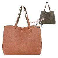 FAKE LEATHER REVERSIBLE BIG TOTE(フェイクレザーリバーシブルビッグトート)  ピンク lu13801-pk トートバッグ totebag レディース ladies...