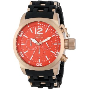 インビクタ 時計 インヴィクタ メンズ 腕時計 Invicta Men's INVICTA-14866 Sea Spider Orange Dial Black Polyurethane Watch