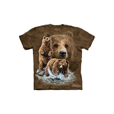 The Mountain Tシャツ Find 10 Brown Bears (クマ ヒグマ キッズ 子供用)【輸入品】半袖