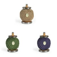 エコツールマーケット ナッツシーン BOBBS SALVAGED MILL BOBBIN WSPOOL OF TWINE HOLDER W BALL OD TWINE 麻紐 3PLY 120m...