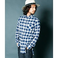 【Magine(マージン)】1621-17-INDIGO GAUZE CHECK LONG SHIRTS L/S シャツ