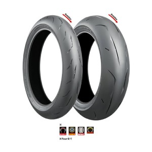 BRIDGESTONE BATTLAX RACING STREET RS10 TYPE-R 120/70 ZR 17 (58W) TL MCR05109 & 190/55 ZR 17 (75W)...