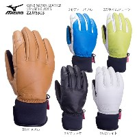 ★MIZUNO〔ミズノ スキーグローブ〕 2018 CONBINATION LEATHER 5FINGER GLOVES Z2JY5503