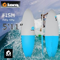 torq(トルク)5'11 Fish Fifty Fifty gray + blue tailエポキシ製ショートボード フィン付き!【店舗引取で送料無料】