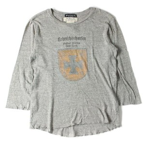REMI RELIEF(レミレリーフ) ×Advantage Cycle エンブレムマークカットソー グレー L 【K1635】【中古】【あす楽☆対応可】