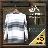 【SAINT JAMES】 OUESSANT BORDER (ouessantbasicf) Lady's □