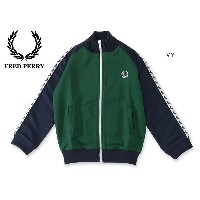 FRED PERRY KIDS COLOUR BLOCKED TADED TRACK JACKET■SY9521-MG【キッズ トップス 羽織り トラックジャケット 子供 子ども フレッドペリー 】...