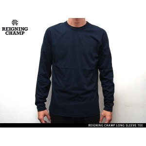 """""""Handcrafted in Canada"""" REIGNING CHAMP LONG SLEEVE TEE NAVY レイニング チャンプ ロングスリーブ ティー ネイビー"""