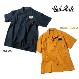 CUT-RATE カットレイト S/S EMBROIDERY WORK SHIRT 半袖シャツ 送料無料