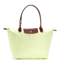 LONGCHAMP 1899-089-C60LE PLIAGEロンシャン ル・プリアージュ折りたたみトートバッグナイロン×型押レザー LIME