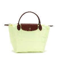 LONGCHAMP 1621-089-C60LE PLIAGEロンシャン ル・プリアージュ折りたたみトートバッグナイロン×型押レザー LIME