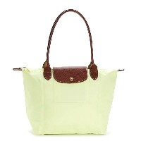 LONGCHAMP 2605-089-C60LE PLIAGEロンシャン ル・プリアージュ折りたたみトートバッグナイロン×型押レザー LIME