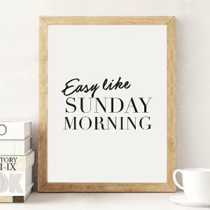 LOVELY POSTERS   SUNDAY MORNING (white)   A3 アートプリント/ポスター