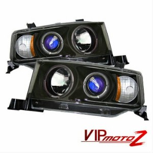 トヨタ bB ヘッドライト 2004-2006 Scion xB bB 1NZ-FE 2NZ-FE Black Halo Angel Eye Projector Headlight Set 2004...